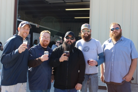 Seth & Paul (5 Stones Brewing), me, Ryan & Justin (Guadalupe Brewing)