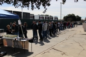 The line is starting to form. The madness has not yet begun!