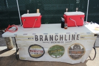 The set up to serve beer outside!