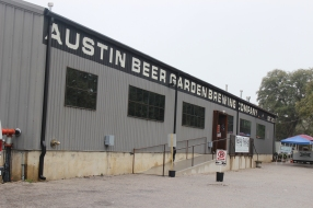 Outside the Austin Beer Garden Brewing Company
