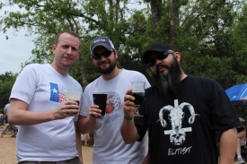 Here I am with two really cool guys (Chris & Michael) who always visit the bar I work at. These guys have amazing bottle share events!