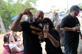 Best friend, Jason (Mad Pecker Brewing/Brewface Killahs) and Mrs. BeerMetalDude!