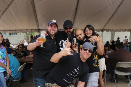 LtoR: Jeremy Banas (Ruination Press/Banas Brothers Brewing), me, Jason, Steve (Mad Pecker Brewing), and Errika!